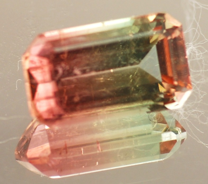 bi-color tourmaline gemstone